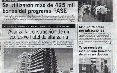 Avanza la construcción de un exclusivo hotel